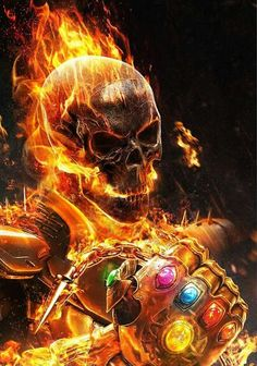 Ghost Rider con el guantelete del infinito(Ghost Rider with the Infinity Gauntlet) Ms Marvel, Marvel Heroes, Marvel Characters, Captain Marvel, Ghost Rider Wallpaper, Marvel Wallpaper, Rauch Tapete, Marvel Fanart, Ghost Rider Marvel