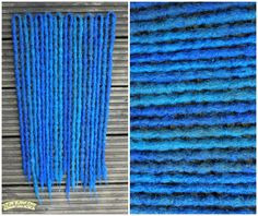 Blue crochet synthetic Dreads by Black Sunshine