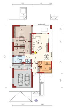 DOM.PL™ - Projekt domu AC EX 21 G2 soft CE - DOM AF9-71 - gotowy koszt budowy Bungalow House Design, Cabana, House Plans, 21st, Floor Plans, How To Plan, Home, House, Blueprints For Homes