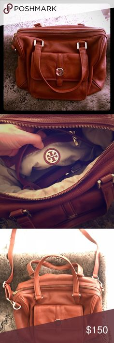 Tory Burch Mahogany bucket bag Beautiful, like brand new Tory Burch bucket bag with attachable long strap! Great bag for daytime or going out - hardly any notices of use. Price is negotiable :) Tory Burch Bags Shoulder Bags
