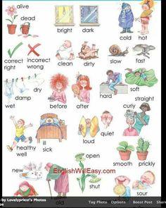 English vocabulary - Adjectives Opposites