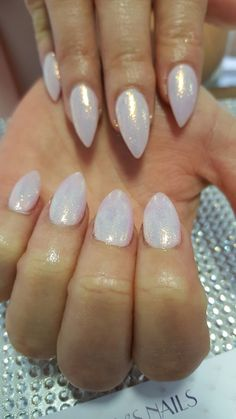 Stiletto Nails. Mermaid Glitter. Pointy Nails. Acrylic Nails. Lillys Nails Maidstone