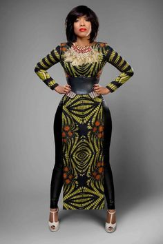 Its African inspired. ALL time favorite website for several african fashion with ankara! African Dresses For Women, African Attire, African Wear, African Fashion Dresses, African Women, African Style, African Outfits, African Inspired Fashion, African Print Fashion