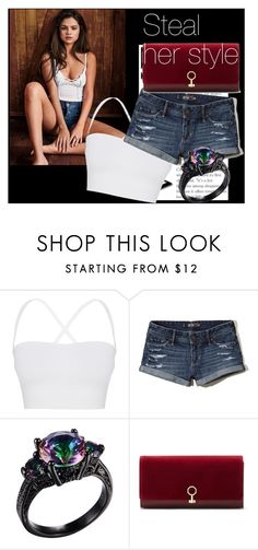 """""""Steal her Style~ Selena Gomez"""" by rockyshorgirl ❤ liked on Polyvore featuring Theory, Hollister Co. and Louise et Cie"""