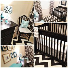 Baby Boy Nursery: Gray and Turquoise.