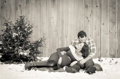 Winter Maternity Photos Carolyn Ann Photography