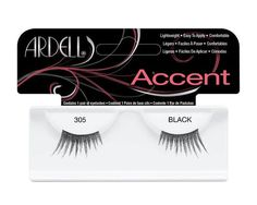 Easy to wear and lightweight, these pretty lashes are to be used on the outer corner of the eyes for a natural cat-eyed look  #Eye #EyeLashes #AccentLashes #Ardell #ArdellEyeLashes    http://www.eyelashesunlimited.com/