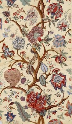 Original textile design on paper , Thierry Mieg Factory, Mulhouse, around 1880 cafsew colours