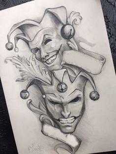 clown tattoo design the joker \ clown tattoo design + clown tattoo design gangster + clown tattoo design drawing + clown tattoo design the joker + clown tattoo design evil + clown tattoo design ideas + clown tattoo design vintage circus Dark Art Drawings, Art Drawings Sketches Simple, Pencil Art Drawings, Beautiful Drawings, Tattoo Design Drawings, Tattoo Sketches, Tattoo Designs, Chicano Art Tattoos, Body Art Tattoos