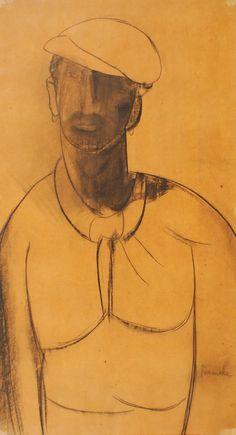 Lot : Constant Permeke (1886-1952) - Le vendeur de crevettes - signé et daté au milieu à[...] | In the sale D'Ensor à Permeke at Brussels Art Auctions
