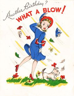Another Birthday? What a blow! // vintage birthday card
