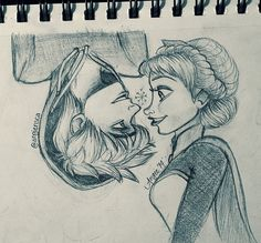 [Oops more jelsa..  Not very original, since I've seen jelsa fan art like this already, but I thought I'd give it a quick try :)]