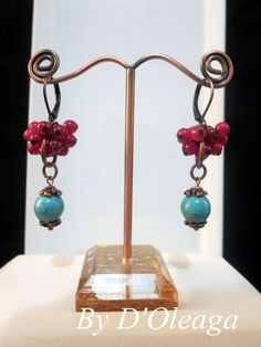 Turquoise Malaysia Jade Leverback  Earwire Earrings- Handmade Jewelry- Earrings- Crafted Jewelry- Unique Beaded Earrings- Ready to Ship!! by DOleaga on Etsy