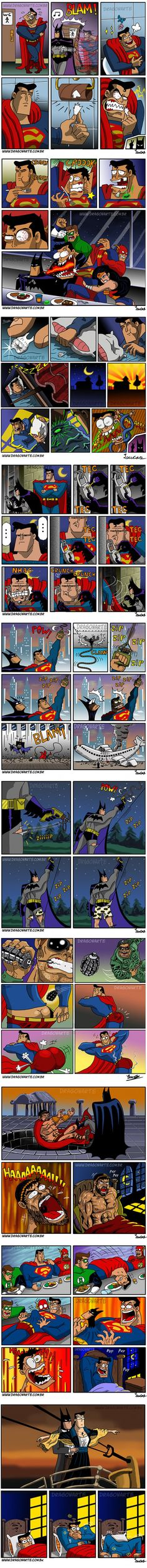 Batman y Superman Heros Comics, Marvel Dc Comics, Funny Comics, Batman Y Superman, Real Batman, Univers Dc, Dc Memes, Best Funny Pictures, The Funny