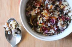 scrumdillydilly: eat dillydilly: cranberry wild rice salad with sautéd artichoke hearts {plus awesome berry glaze}