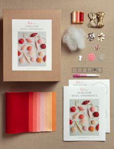 Heirloom Wool Ornaments Kit