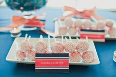 coral and navy wedding