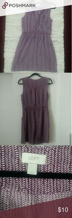 Loft Small Purple and White Dress Loft Small Purple and White Dress - comes just above the knee. LOFT Dresses