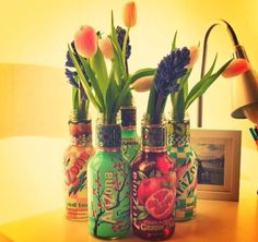 Dekoratif şişelerimizle evinize renk katmak sizin elinizde ;)