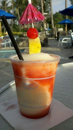 Lava Flow drink at the Hale Koa Hotel, Honolulu Hi
