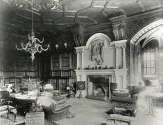 Library at Lyme Park, Great Britian–so many beautiful old classic books