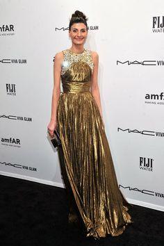Giovanna Battaglia at the amfAR gala In New York.