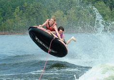 Tubing on the lake with my granddaughter makes this 59 year old feel like a kid again!