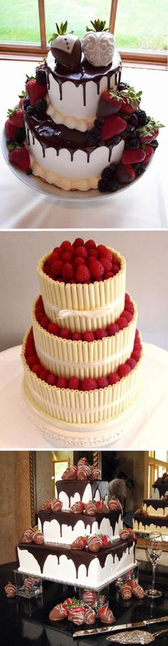 Strawberry Wedding Cakes