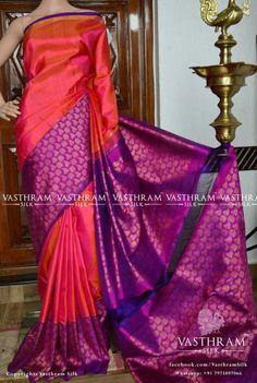 Kanchipuram silk Cost: 19000 inr Whatsapp: 91 7019277192 Phulkari Saree, Kasavu Saree, Kanchipuram Saree, Silk Sarees, Indian Beauty Saree, Indian Sarees, Bandhini Saree, Velvet Saree, Indian Fashion