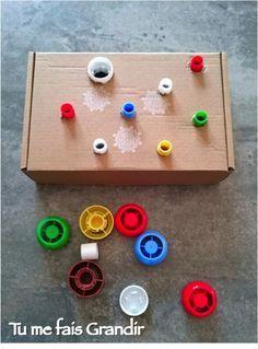 Bouchons à visser et dévisser {Activité} Montessori Baby, Montessori Activities, Infant Activities, Educational Activities, Learning Activities, Activities For Kids, Preschool Math, Games For Kids, Diy For Kids