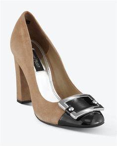 NIB White House Black Market Color Block Heel Brown Size 6