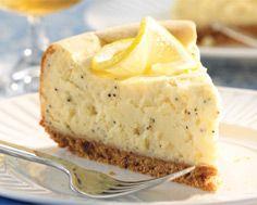 Lemon-Poppy Seed Cheesecake. Interesting. Bet it's good!