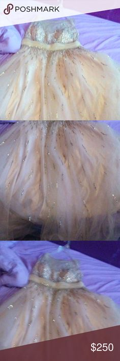 Plus size prom/wedding dress Anybody want to buy a plus size ball gown dress it can be for prom or a wedding only worn once  and it's made by tony bowls a designer Tony Bowls Dresses Prom