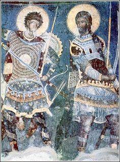 Holy Warriors, a fresco in the monastery of Manasija, ca. 1418.
