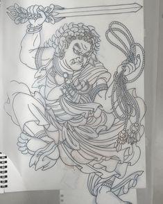 やっと出来た、、、 もう寝る #不動明王 #fudomyoo #刺青 #tattoo #タトゥー #ink #irezumi #drawing #draw…