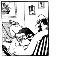A Far side look at psychiatry that reflects the public opinion of therapy.