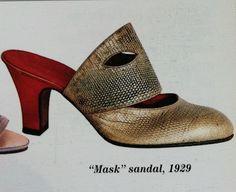 "1929 ""Mask"" sandal heels by André Perugia."