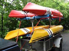 Unitstrut kayak rack for utility trailer