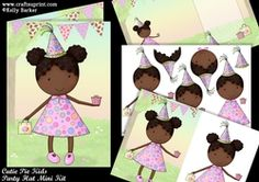 Cutie Pie Kids Party Hat Mini Kit on Craftsuprint - View Now! Princess Hat, Little Princess, Next Children, Children Hair, Sparkle Paint, Paper Balls, Glue Crafts, Silk Roses
