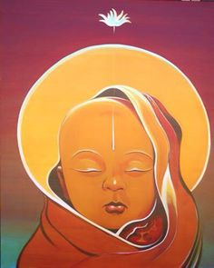 Malcolm Farley, I just love this and get to look at it every other week when I work at church with the Youth Ministry Baby Buddha, Little Buddha, Buddha Buddhism, Buddha Art, Samurai, Buddha Painting, Indian Art Paintings, Yoga Art, Hindu Art