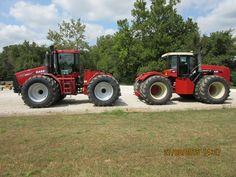 Pair of 435 hp 4WD tractors.Versatile 435 & CaseIH Steiger 435