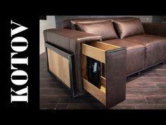 Диван с баром в подлокотнике. Iron sofa. Time lapse - YouTube Sofa Cumbed, Sofa Furniture, Furniture Making, Modern Furniture, Furniture Design, Bed Designs With Storage, Diy Projects Plans, Floor Design, Woodworking