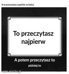 Wiocha.pl - absurdy internetu Haha Funny, Lol, Funny Lyrics, Polish Memes, Mood Songs, Art Lessons Elementary, Some Quotes, Best Memes, Funny Images