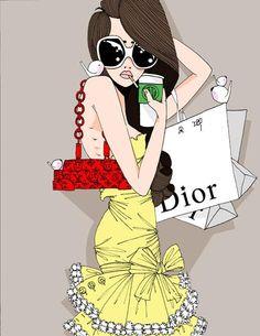 fashion diva dior style picture and wallpaper