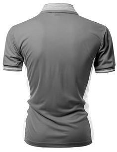fc62c138790e7 Amazon.com  Men CoolMax Fabric Sporty Feel Polo T-Shirt with Collar Design  Plus size GRAY XS  Clothing