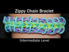Rainbow Loom® Zippy Chain Bracelet - http://rainbowloomsale.com/rainbow-loom-zippy%ef%bb%bf-chain-bracelet/