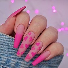 40 Lovely Valentine's Nails -Acrylic Coffin Nails With Kiss And Heart - - 40 Lovely Valentine's Nails -Acrylic Coffin Nails With Kiss And Heart nails Valentine's Day Nail Designs, Acrylic Nail Designs, Nails Design, Salon Design, Minimalist Nails, Aycrlic Nails, Coffin Nails, Stiletto Nails, Pink Coffin