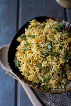 Spicy and delicious Achari Vegetable Pulao. It is flavored with achar aka spicy Indian pickle and whole pickle spices. Great one pot meal for weeknights. Veg Recipes, Side Dish Recipes, Indian Food Recipes, Cooking Recipes, Recipies, Couscous, Vegetarian Cooking, Vegetarian Recipes, Vegetable Pulao Recipe