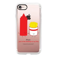 You're the Ketchup to My Fries - iPhone 7 Case, iPhone 7 Plus Case,... ($40) ❤ liked on Polyvore featuring accessories, tech accessories, iphone case, iphone cases, apple iphone case and iphone cover case