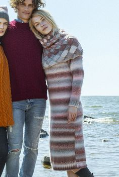 Knitted dress for Novita, free pattern in Finnish and in Swedish at novitaknits.com